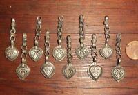 10 Pendentifs Breloques Ethnique Afghanistan Métal Collier Ethnic Beads Pendants