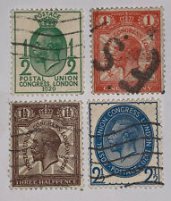 Travelstamps: Great Britain Stamps Scott #205-208 Used Ng 1/2p-2 1/2p
