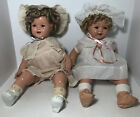 """Lot Of 2 Vintage 20""""/21""""? Baby Shirley Temple Dolls Composition Marked"""
