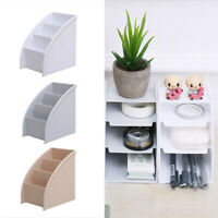 Plastic Trapezoid Storage Box Desk Organizer Pen Phone Cosmetic Holder Durable