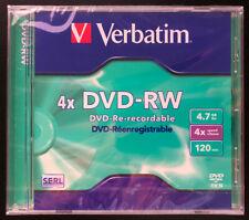 DVD-RW 4.7 GB 120 Minuten 4x Verbatim SERL Technologie RW2 DVD RW 4,7GB neu OVP