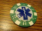 EMS Star of Life Medical Caduceus design Poker Chip,Golf Ball Marker,Card Guard