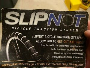 Slipnot Bicycle Tire Snow Chains Traction System 27.5+