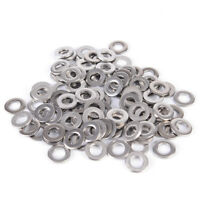 100PCS Stainless Steel Washers Metric Flat Washer Screw Kit M3 M4 M5 M6 M8 M1 DO