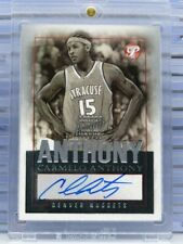 2003-04 Topps Pristine Carmelo Anthony Rookie Auto Autograph RC Nuggets (A) C64