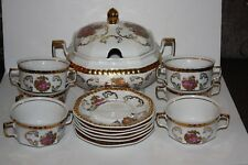 Seltmann Weiden Germany Tureen and Six Soup Cups and Saucers