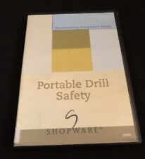 Rare DVD: Portable Drill Safety by Shopware Woodworking Equipment Safety Series