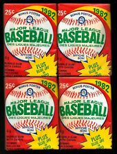 FOUR 1982  OPC Baseball Factory Sealed Wax Packs  (PLEASE READ DESCRIPTION)