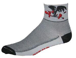 GIZMO Buzzard Running Cycling Performance Socks - Gray