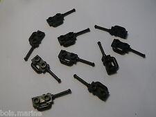 Lego 10 talkie walkie noirs set 7208 7645 70728 7633 / 10 black speakers