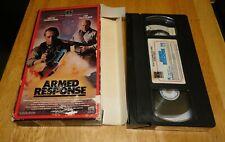Armed Response (VHS, 1986) David Carradine, Lee Van Cleef RCA Action Sleaze