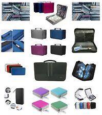 More details for cd dvd carry case disc storage holder cd sleeve wallet holds 40 80 128 256 cd's