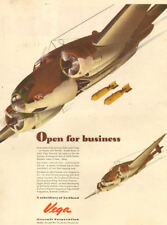 1943 WW 2 aircraft AD LOCKHEED VEGA Ventura Light Bombers drop bombs 112317