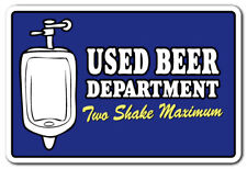 USED BEER DEPARTMENT TWO SHAKE MAXIMUM Decal bar bathroom pub Decals