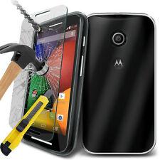 Ultra Durable Transparent étui en Gel TPU étui & Verre pour Motorola Moto E
