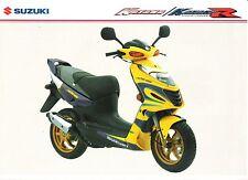 Suzuki AY50 GB Sales Brochure Katana AY50W Katana R Alstare Replica GSXR Replica