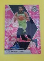 Karl-Anthony Towns 2019 Mosaic Pink Camo Prizm Card #83 TIMBERWOLVES