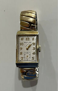 MID CENTURY WALTHAM 17J 10K GOLD FILLED MENS WATCH made in USA