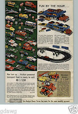 1966 PAPER AD Toy Friction Powered Mountain Mover Truck Bus Helicopter M P Jeep