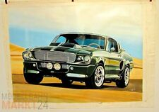 OLIO-Immagine su tela US Muscle-CAR PONY-CAR SHELBY MUSTANG? AUTO-dimensioni 68x93 cm