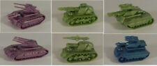 6pcs ZOD BATTLE TANKS, 1/100 scale (Tehnolog, hard plastic) Mechwarrior/CAV