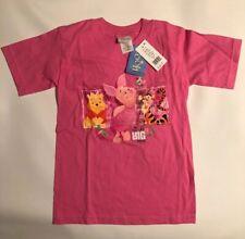 PIMPI KID/'S ROSA 100/% COTONE TV personaggio dei cartoni animati t shirt Winnie The Pooh
