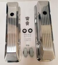 1958-86 Small Block Chevy 283-350 Tall Recessed Polished Aluminum Valve Covers