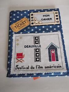 Cahier brodé points de croix Festival du film Américain Deauville, n°1