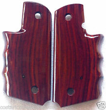 COLT FULL SIZE 1911 Wraparound GRIPS finger groves COCOBOLO ROOT WOOD P-8 NICE!