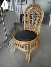 Stuhlkissen rund 40 Ø cm x 4 cm Sitzkissen schwarz, Kunstleder