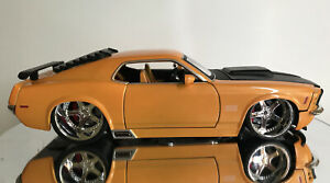 JADA BIG TIME MUSCLE 1970 FORD MUSTANG BOSS YELLOW 1/24 DUB CITY COLLECTABLE
