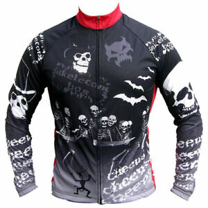 """Franklin Cycling Jersey / SkeletonBoozeUp / UK size M(38-39""""chest)/ Long sleeve"""