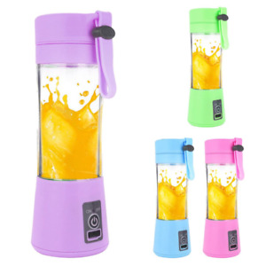Portable Blender Mixer Juicer Smoothies USB Rechargeable 6 Blades -- USA Seller!