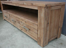 Adriana SOLID ACACIA Wood 3 Drawer 1.8m TV Entertainment Unit