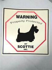"Cute Vintage Sign ""Warning Property Protected by Scottie Inc"" Terrier Dog Lover"