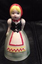 Vintage Porcelain Bell Girl in Dutch Native Clothing