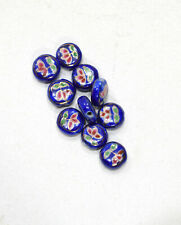 Beads Chinese Blue Flat Porcelain Beads 11mm