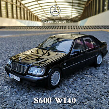 Original 1990 Mercedes-Benz S600 W140 1:18 Collectible Diecast Car Model Black