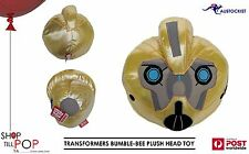 "Transformers Bumblebee Hasbro Plush Head  30cm 12"" BNWT Licensed Film TV  Kids"