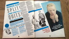 BRONSKI BEAT 'Jimmy Somerville quits' UK ARTICLE / clipping