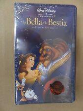 LA BELLA E LA BESTIA  VHS I Classici Disney EDIZIONE SPECIALE NUOVA SIGILLATA