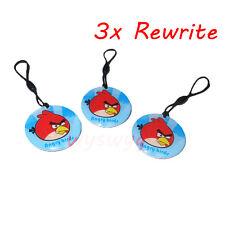 3pcs 125Khz Rfid Em Writable Rwrite Proximity Induction Cartoon Bird Lanyard Tag
