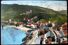 GERMANY ~ 1900's AUSSIG a. d. ELBE ~ FERDINANDSHOEHE ~ BAHNHOF ~ RR STATION