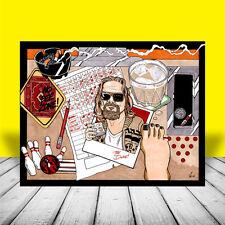 THE BIG LEBOWSKI artist signed MOVIE ART, Dude in sweater, poster, jeff bridges