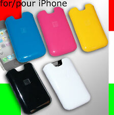 custodia sacchetto in eco PELLE gialla per iPhone 2G 3G 3Gs 4 4s 5 5s 5c