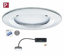 Paulmann EBL LED Coin Slim 1x6,8W Starr Dimmbar Chrom. IP44 Satin H=3cm 93883
