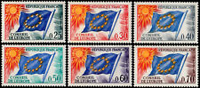 ✔️ FRANCE 1965/1971 - EUROPEAN COUNCIL FLAG - SC.1O10/1O15 MNH OG [FRO.10/15]
