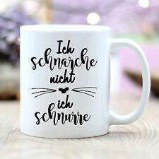 """T185 Wandtattoo Loft Taza de Café """" ich schnarche NO, Ich schnurre"""" Gato"""