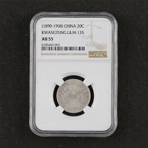 1890-1908 China  20C KWANGTUNG L&M-135 NGC AU 55
