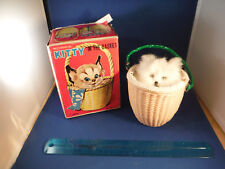 Vintage Moving Kitty In Basket Toy w/Original Box (AS IS No Key)